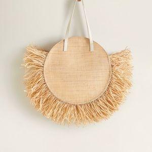 ☀️ MANGO Round Raffia Bag